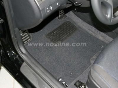 Коврики в салон (Novline) для Hyundai Elantra sedan 2010-2013, 5 шт. (текстиль, чёрные, серые, бежевые)
