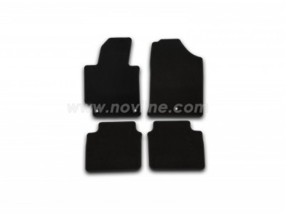 Коврики в салон (Novline) для Hyundai Elantra sedan 2013-2015, 5 шт. (текстиль, чёрные)