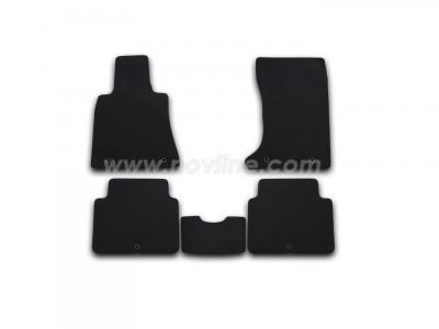 Коврики в салон (Novline) для Hyundai Genesis sedan 2013-н.в., 5 шт. (текстиль, чёрные)
