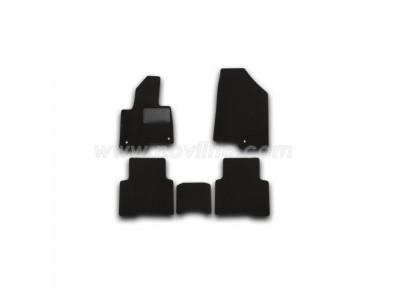 Коврики в салон (Novline) для Hyundai Grand Santa Fe 2012-н.в., 5 шт. (текстиль, чёрные)