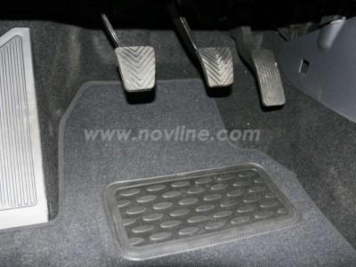 Коврики в салон (Novline) для Hyundai i30 hb 2007-2011, 4 шт. (текстиль, чёрные, серые, бежевые)