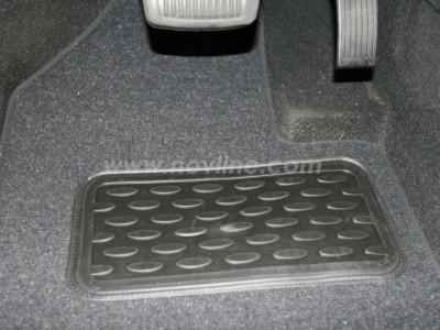 Коврики в салон (Novline) для Hyundai ix55 2008-н.в., 6 шт. (текстиль, чёрные, серые, бежевые)