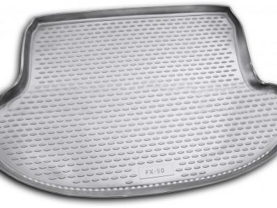Коврик в багажник Novline для  INFINITI FX 2008-2013/ QX 70 2013-н.в., кросс. (полиуретан, чёрный, бежевый)
