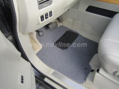 Коврики в салон (Novline) для Infiniti QX 2004-2010, 6 шт. (текстиль, чёрные, серые, бежевые)