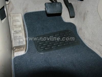 Коврики в салон (Novline) для Jeep Compass 2010-н.в., 4 шт. (текстиль, чёрные, серые, бежевые)