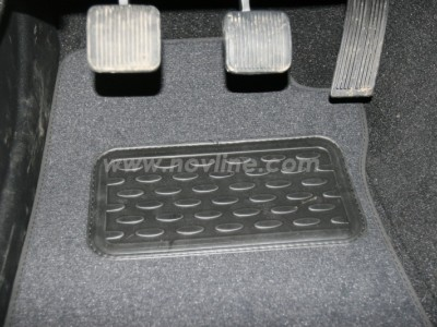 Коврики в салон (Novline) для Jeep Grand Wrangler 2D 2006-н.в., 4 шт. (текстиль, чёрные, серые, бежевые)