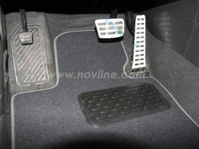Коврики в салон (Novline) для Kia Optima sedan 2010-2015, 5 шт. (текстиль, чёрные, серые, бежевые)