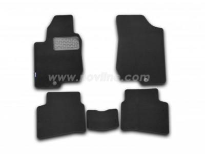 Коврики в салон (Novline) для Kia Pro-Ceed  hb 2006-2012, 5 шт. (текстиль, чёрные, серые, бежевые)