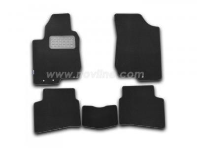 Коврики в салон (Novline) для Kia Pro-Ceed  hb 2012-н.в., 5 шт. (текстиль, чёрные, серые, бежевые)