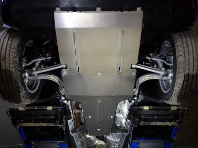 Защита картера, КПП и раздаточной коробки (TCC) для Audi Q5 2016- н.в., (алюминий) 4 мм