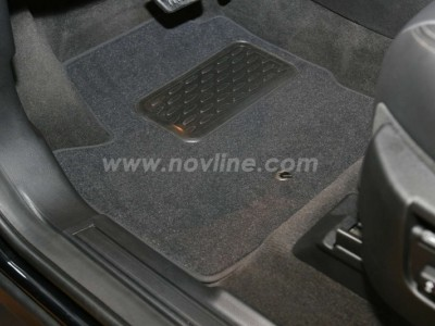 Коврики в салон (Novline) для Land Rover Freelander 2 2006-н.в., 4 шт. (текстиль, чёрные, серые, бежевые)