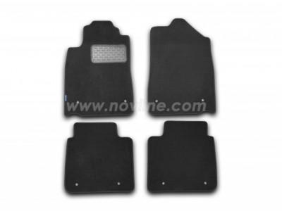 Коврики в салон (Novline) для Lexus ES 2009-2012, 4 шт. (текстиль, чёрные, серые, бежевые)