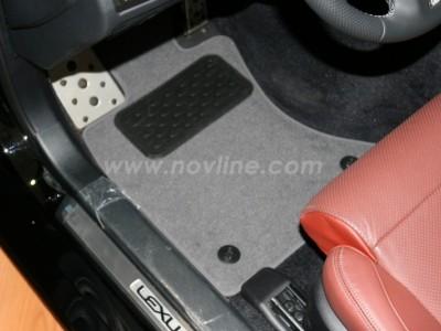 Коврики в салон (Novline) для Lexus GS 300 2012-н.в., 4 шт. (текстиль, чёрные, серые, бежевые)