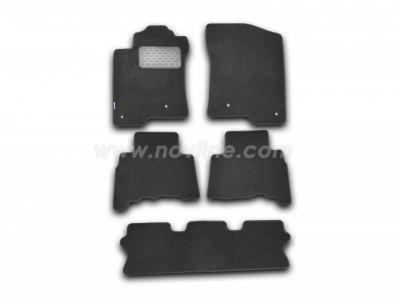 Коврики в салон (Novline) для Lexus GX 460 2010-н.в., 5 шт. (текстиль, чёрные, серые, бежевые)