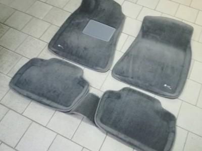 Коврики салона 3D LUX Sotra для Lexus IS 2005-2013, 2 ряда 5 частей, серый и бежевый цвет