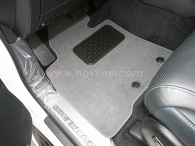 Коврики в салон (Novline) для Lexus LX 570 2012-2015, 5 шт. (текстиль, чёрные, серые, бежевые)