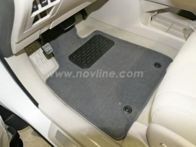 Коврики в салон (Novline) для Lexus RX 450H 2012-2015, 4 шт. (текстиль, чёрные, серые, бежевые)