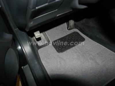 Коврики в салон (Novline) для Lexus GS 300 2WD 2005-2012, 4 шт. (текстиль, чёрные, серые, бежевые)