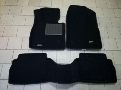 Коврики салона 3D LUX Sotra для Mazda 3 (BM) 2013-н.в., 2 ряда 3 части, чёрный цвет