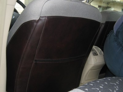 Оригинальные модельные чехлы на сидения для автомобиля Scoda Rapid 2012-2017 (материал: твид, кожзам; любые тона)