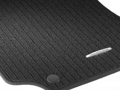 Коврики салона рипсовые (New) чёрные для Мерседес GL class X164 2006-2012, ML class W164 2005-2011, 4 шт.
