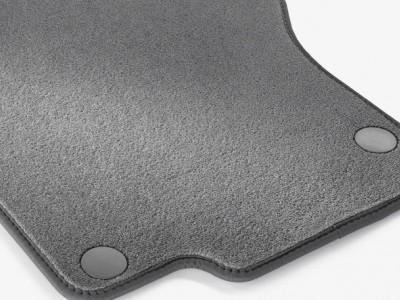 Коврики салона велюровые цвет Серая альпака для Мерседес GL class X164 2006-2012, ML class W164 2005-2011, 4 шт.