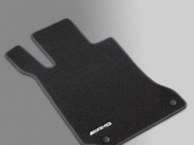 AMG коврики салона велюровые чёрные для Мерседес GL class X166 2012-2015, ML class W166 2011-2015, GLE class C292 2015-н.в., 4 шт.