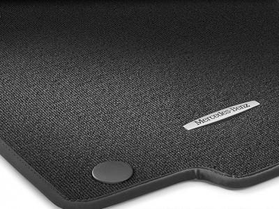 Коврики салона велюровые чёрные Sport для Мерседес GL class X166 2012-2015, ML class W166 2011-2015, GLE class C292 2015-н.в., 4 шт.