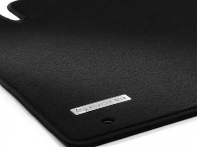 Коврики салона велюровые чёрные для Мерседес A class W168 1997-2004, 4 шт.