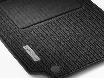 Коврики салона рипсовые чёрные для Мерседес A class W169 2004-2012, 4 шт.