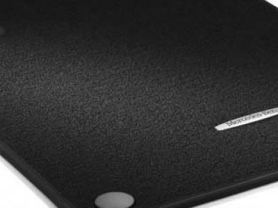 Коврики салона велюровые черные, окантовка чёрного цвета для Мерседес A class W176 2012-н.в., B class W246 2011-2014, CLA class C117 X117 2013-н.в., GLA class X156 2014-н.в., 4 шт.