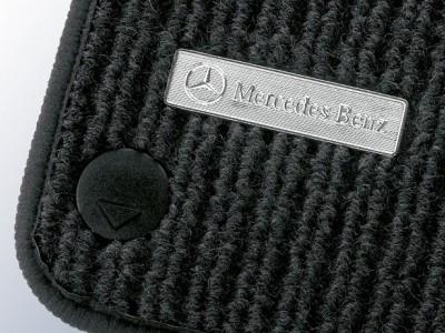 Коврики салона рипсовые черные для Мерседес C class W203 2000-2007, 4 шт.