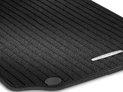 Коврики салона рипсовы черные  для Мерседес C class W204 2007-2014, 4 шт.