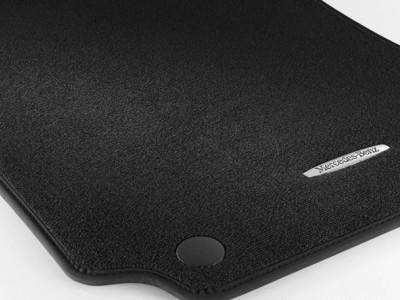 Коврики салона велюровые черные для Мерседес C class W204 2007-2014, 4 шт.