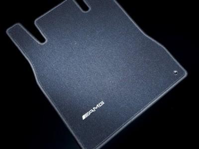 AMG коврики салона велюровые антрацит для Мерседес CLS class C219 2004-2011, E class W211 2002-2009, 4 шт, 1 шт.