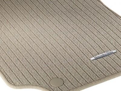 Коврики салона рипсовые цвет Бежевый миндаль для Мерседес CLS class C218 X218 2011-н.в., E class W212 2009-н.в., 4 шт.