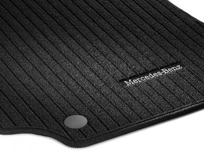 Коврики салона рипсовые черные для Мерседес CLS class C218 X218 2011-н.в., E class W212 2009-н.в., 4 шт.