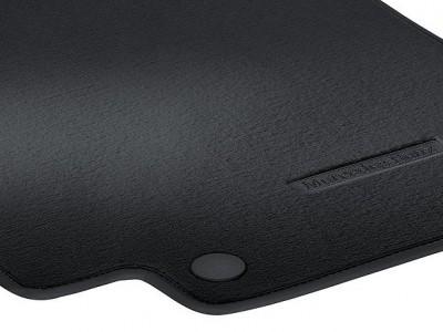 Коврики салона велюровые черные для Мерседес CLS class C218 X218 2011-н.в., E class W212 2009-н.в., 4 шт.