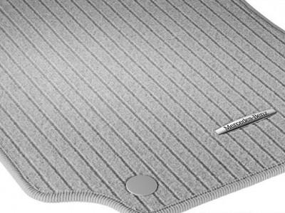 Коврики салона рипсовые цвет Серая альпака для Мерседес CLS class C218 X218 2011-н.в., E class W212 2009-н.в., 4 шт.