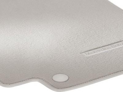Коврики салона велюровые цвет Серый кристалл для Мерседес CLS class C218 X218 2011-н.в., E class W212 2009-н.в., 4 шт.