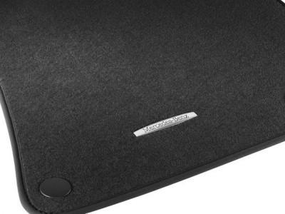Коврики салона велюровые черные для Мерседес S class W221 2005-2013, 4 шт.