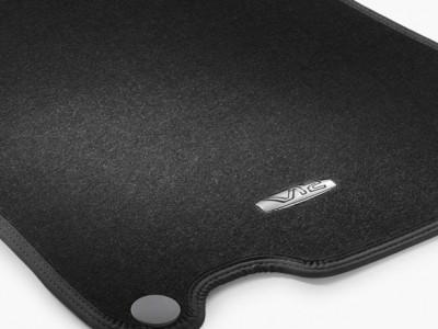Коврики салона велюровые черные LONG V12 для Мерседес S class W221 2005-2013, 4 шт.