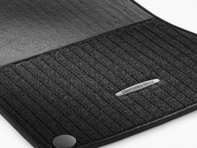 Коврики салона рипсовые черные LONG для Мерседес S class W221 2005-2013, 4 шт.