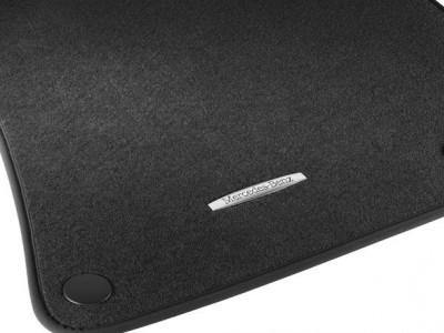 Коврики салона велюровые черные LONG для Мерседес S class W221 2005-2013, 4 шт.
