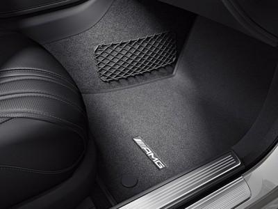 AMG коврики салона велюровые черные для Мерседес S class W222, 2013-н.в., 4 шт, 1 шт.