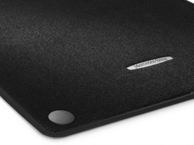 Коврики салона велюровые черные для Мерседес S class W222, 2013-н.в., 4 шт.