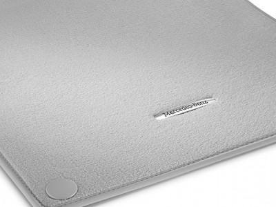 Коврики салона велюровые цвет Серый кристалл LONG для Мерседес S class W222, 2013-н.в., 4 шт.