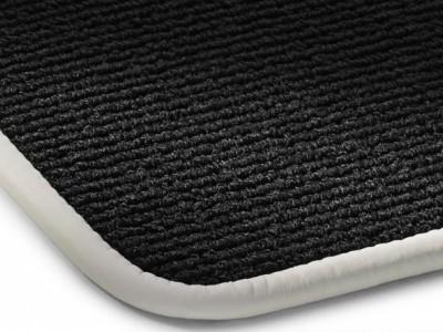 Коврики салона велюровые цвет черный / Фарфор окантовка кожа. для Мерседес Maybach W240 2002-н.в., 4 шт.
