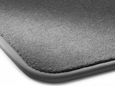 Коврики салона велюровые цвет серый Галапагос окантовка кожа. для Мерседес Maybach W240 2002-н.в., 4 шт.
