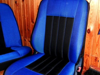 Оригинальные модельные чехлы на сидения для автомобиля Subaru Forester II 2002-2008 (материал: твид, кожзам; любые тона)